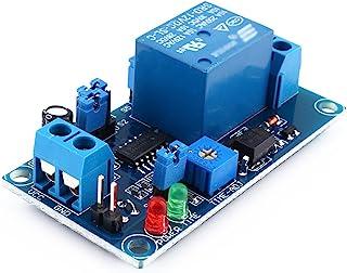 wifehelper 12V DC Relé de retardo de retardo de Encendido/Apagado, módulo de Interruptor de retardo Ajustable, Temporizador de Ciclo de relé