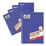 AVERY Zweckform 1739-5 Auftrag/Lieferschein/Rechnung Kombinationsbuch (A5, 2x40 Blatt, selbstdurchschreibend mit farbigem Durchschlag, mit Unterschriftenfeld für Auftraggeber) 5er Pack, weiß/gelb