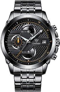 Cadisen Watch Men Sport Brand Chronograph Clock Quartz WristWatch Business Waterproof Watch Men