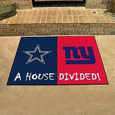 NFL House Divided Novelty Rug Rug Size: 2'10  x 3'9 , NFL Team: Dallas Cowboys v. New York Giants