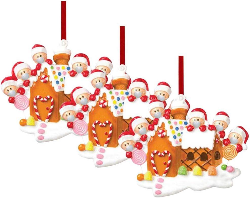 XXLYY Adorno para árbol de Navidad, decoración navideña, cuarentena en casa de árbol personalizado, colgante de Navidad, para decoración del hogar, regalos de Navidad para niños y niñas (A, 2)