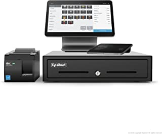 Complete Square Register - Comes with Android Based Dual Display, MAGSTRIPE, CONTACTLESS (NFC), CHIP (EMV), USB Receipt Printer and Cash Drawer (Black)