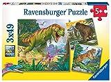 Ravensburger - Puzzle 3 x 49, Dinosaurios B (09358)