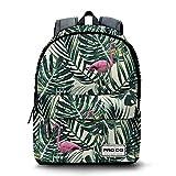 PRODG Flamingo Mochila Freestyle Tipo Casual, 42 cm, 21 Litros, Verde, pro-dg_33672, poliéster