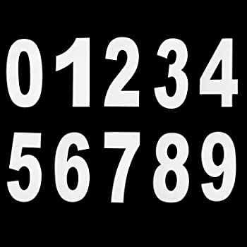 1 x   Set of Giant Silver 0-9 Numbers Self Adhesive Vinyl Stickers size 100mm