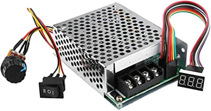 Refaxi DC10V-55V 60A PWM DC Motor Speed Controller Motor Speed Controller with Adjustable Potentiometer Reversible Switch with Digit Display