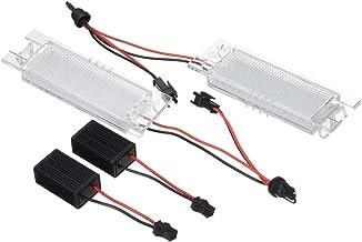 MOLEAQI 2Pcs 18 LED Placa de matrícula del Coche Lámpara de matrícula de luz para O-Pel V-auxhall Corsa Zafira Sin Error 7000K