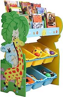 JIAGU Enfants Enfants Toy Stockage Organisateur de Jouet avec étagère et unité de Rangement Amovible pour Enfants pour la ...