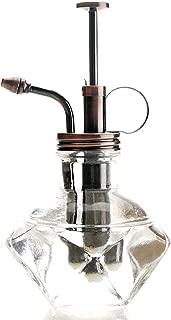 Purism Style Plant Mister - Clear Color Glass Bottle & Brass Sprayer (Antique Copper)