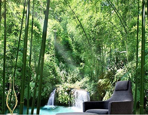 ZICI Wandaufkleber Tapete 3D Bambus Wald Wallpaper Wandbild Wohnzimmer Kunst Aufkleber Wandbild,250 * 175 cm
