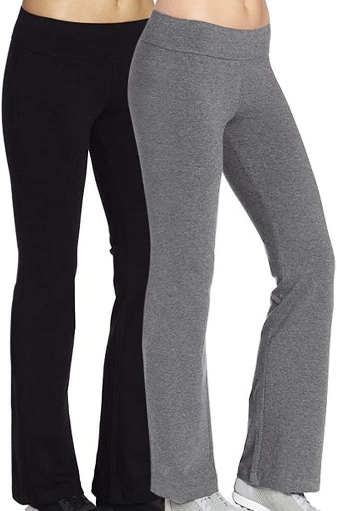 4HOW Women's Running Yoga Pants Special sale item Boot-Cut Black Max 58% OFF Fitness Trousers