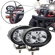 BeiLan RGB Cambio de color Faros Auxiliares de Moto,20W Foco LED Moto Faros Largo Alcance Luces de trabajo Luz delantera auxiliar 12V//24V 3600LM para Moto Off-Road 4X4 ATV Tractor