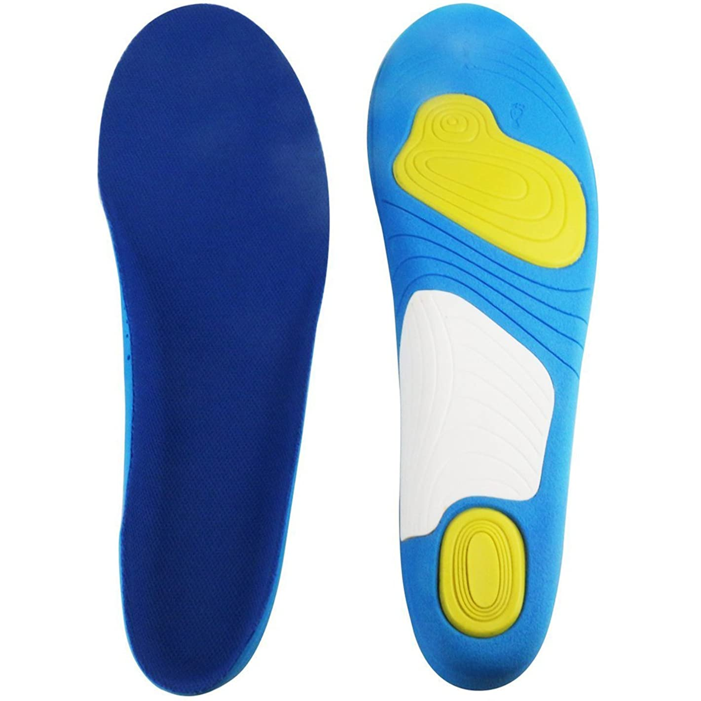 Arch Support Insoles for Shock Absorption and Cushioning, HLYOON Shoe Inserts Size 7-10