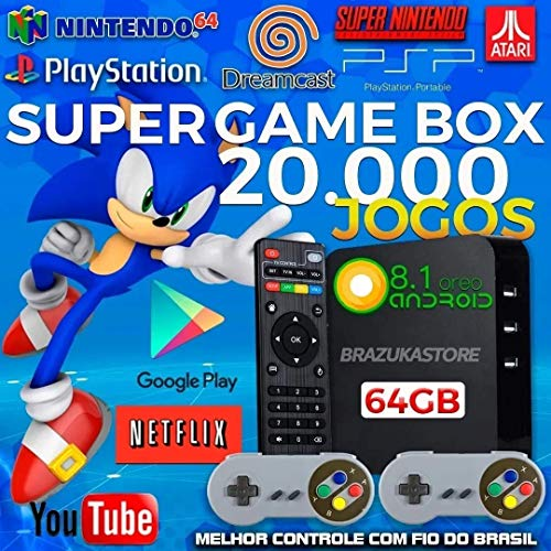 Vídeo Game Retro Gamer Box 20000 Jogos + 2 Controle Usb