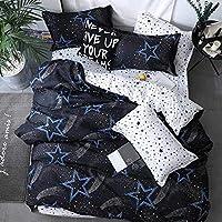 ヘルスパーソナルケア寝具セット犬用カートン寝具セットホームテキスタイルソフト快適寝具セット羽毛布団カバーフラットベッドシーツベッドリネン枕カバー3/4個ZB23クイーンカバー200by230