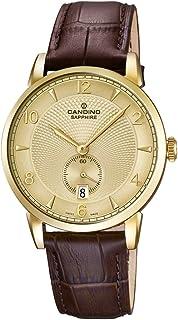 Candino Reloj Hombre de Cuarzo Dorado con Esfera analógica