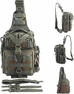 BLISSWILL Outdoor Tackle Bag Multifunctional Water-Resistant Fishing Bag Single Shoulder Bag Crossbody Fishing Backpack Fishing Gear Storage Bag Hunting Backpack