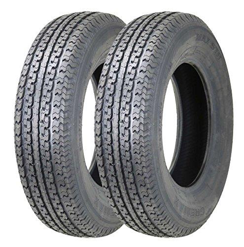 2 New Premium OMNIDURUN Trailer Tires ST 235/80R16 w/featured Full Nylon Cap Ply!