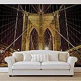 Puente de Brooklyn New york Foto pintado mural de papel pintado (796fw), FIELTRO (EasyInstall), XXXL - 416cm x 254cm