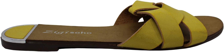 ZIGI SOHO Womens Wilamina Open Toe Casual Slide Sandals