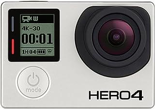 GoPro HERO4 Black - Videocámara Deportiva (12 MP, Wi-Fi, Bluetooth, Sumergible hasta 40 m), Color Gris y Negro