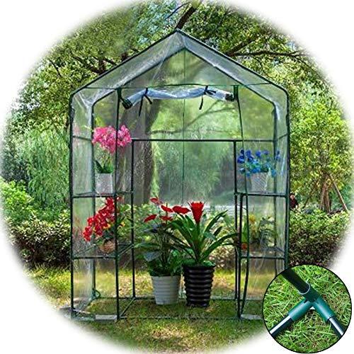 MAHFEI Invernadero Pequeño, Terraza Invernadero Sin Cita Portátil Casa Jardín Invernadero Cubierta De Planta De PVC Fácil De Instalar para Plantas De Flores Al Aire Libre