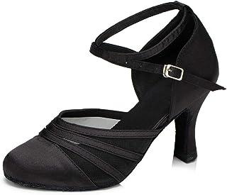 DKZSYIM Women's Latin Dance Shoes Ballroom Performance Shoes,Model YCL189