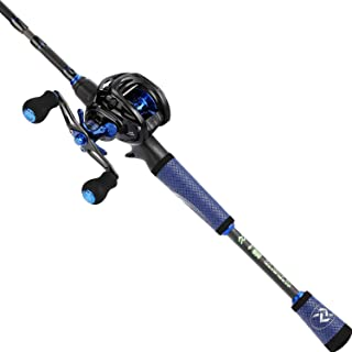 Sougayilang Speed Bass Fishing Rods, Porable Light Weight High Carbon 4 Pc Blanks for Travel Freshwater Fishing-Spinning &...