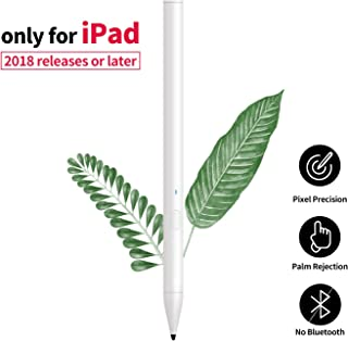 Colerare Stylus Pencil for Apple iPad Palm Rejection, Active Digital Pen Compatible with iPad Pro (3rd Gen), iPad (6th Gen), iPad Air (3rd Gen) and iPad Mini (5th Gen)-White