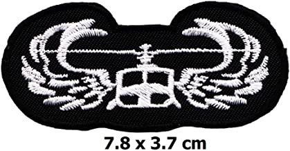 Embroidered Iron On Patch Transportation Helicopter Pilot Flying