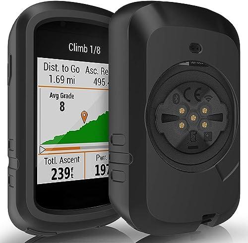 TUSITA Cas Compatible avec Garmin Edge 830 - Housse de Protection en Silicone Peau - Ordinateur de vélo Accessoires GPS