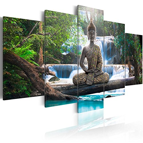 murando - Cuadro en Lienzo Buda 200x100 cm Impresión de 5 P