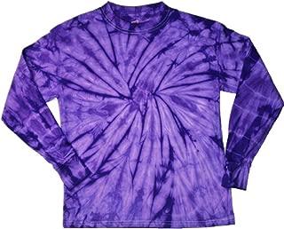 Tie Dye T-Shirts Spider Purple Long Sleeve Kids & Adult Size