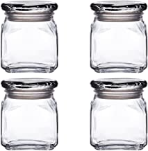 Anchor Hocking Emma Jar with Glass Cover,10-Ounce,Set of 4