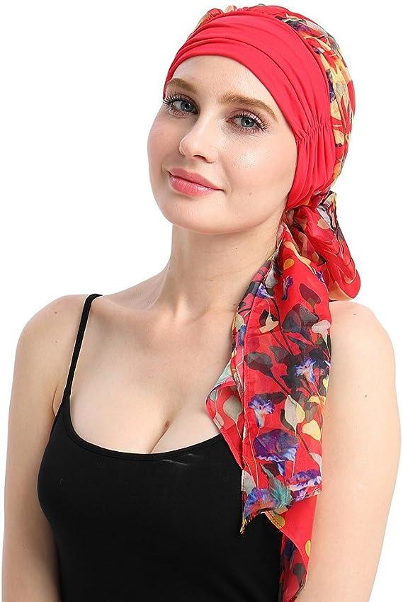 Hippie Hats,  70s Hats Chemo Headwear Turbans for Women Long Hair Head Scarf Headwraps Cancer Hats  AT vintagedancer.com