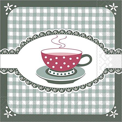 Vlag HORECA | servet Kathrin | Groen | 3-laags tissue 33 x 33 cm | koffie of verjaardag | 100 stuks