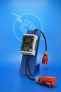 Digital Stromzähler Adapter - Geeicht - 400V / 32A CEE-Stecker auf 32A CEE Kupplung/Wattmeter/Energiezähler/Zwischenzähler/MID-Adapter/Starkstromzähler IP65. Qualität -Made in Germany-