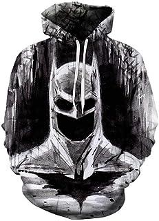 2020 Hombres Sudaderas Moda Hombre Spiderman Superman Batman 3D Impresión Sudaderas con Capucha Streetwear Casual Cospaly ...