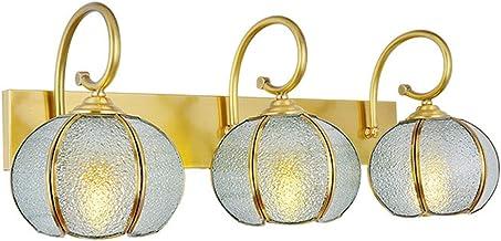 MJJ - Wandlamp voor badkamer spiegellamp, E27 lichtbron Europese retro Amerikaanse spiegel badkamerlamp spiegel kast wandl...