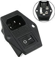 Aexit Conector macho de alimentación IEC 320 C14 con interruptor basculante (model: J6118VIIO-8935KO) SPST + fusible