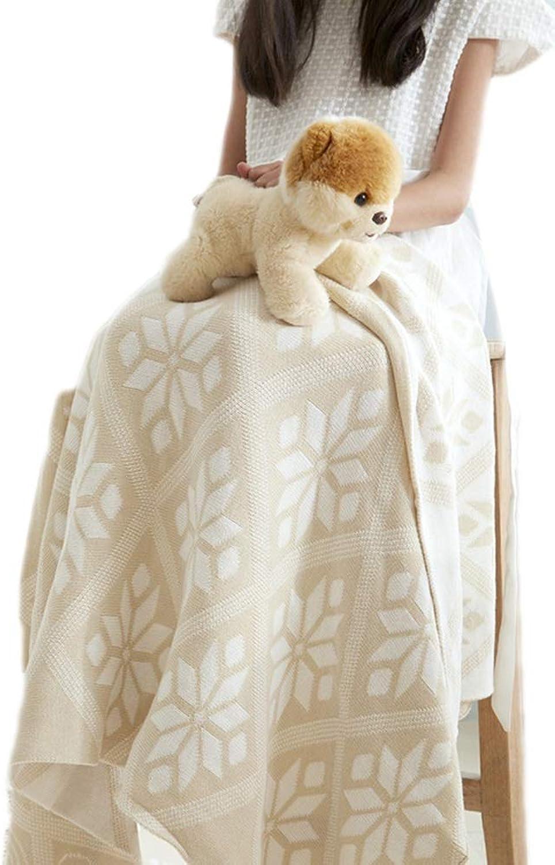 tienda de venta en línea Tz New Ins Manta de de de Punto de algodón Manta de Aire Acondicionado para Niños Manta de Cisne recién Nacido Manta de Viento Manta de Aire Acondicionado (Color   oro, Talla   110  130cm)  increíbles descuentos