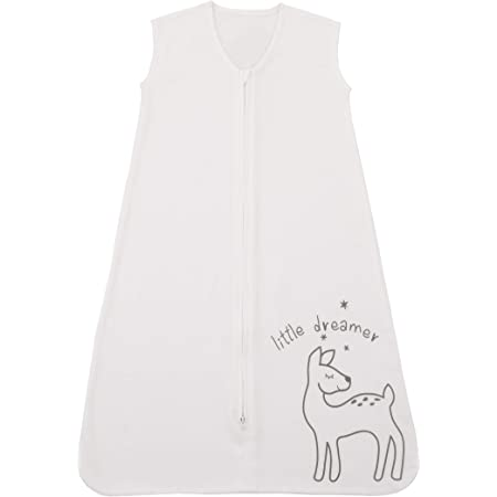 "Sumersault Deer Ivory 100% Cotton Wearable Blanket""Little Dreamer"", Medium"
