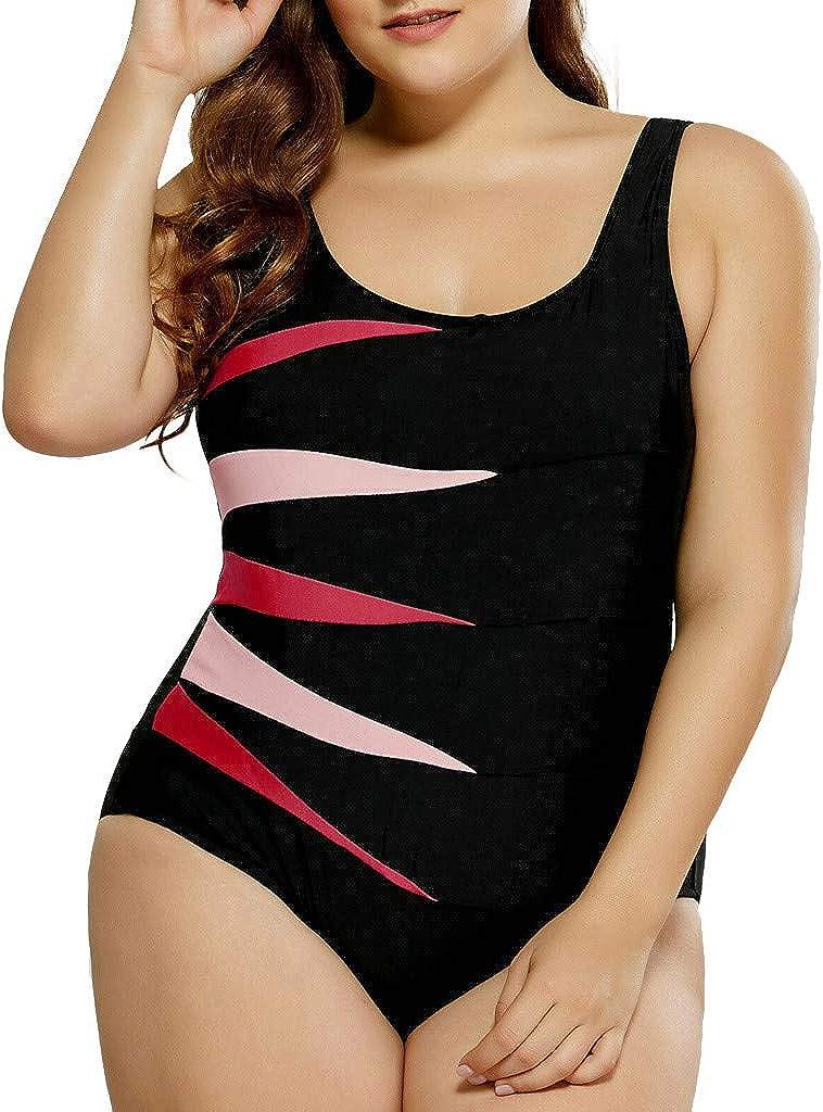 Bidobibo Plus Size Bathing Suits for Women Womens Swimsuits One Piece Tummy Control Black Athletic Bikini Swimwear