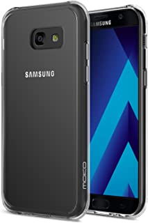 Galaxy A3 2017 Case, MoKo Shock Absorbing TPU Bumper Slim Clear Protective Case with Anti-Scratch Hard Back Cover for Samsung Galaxy A3 2017 - Crystal Clear (NOT FIT Galaxy A3 2016 Version)
