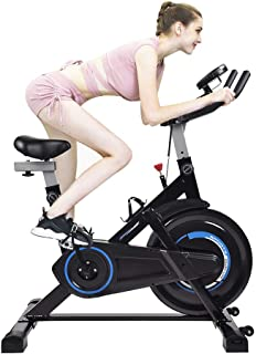 Puluomis Indoor Cycling Bike Exercise Spin Bicycle Stationary Bikes with Monitor Display