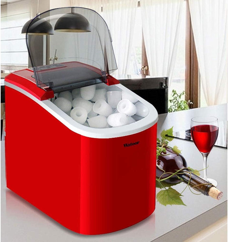80% de descuento Encimera de la máquina para hacer hacer hacer hielo portátil, cubos de hielo de bala listos en 6 minutos, 33 lb  día, tamao de la pastilla cubo control gratuito, compresor de alta eficiencia, estuche de ABS rojo  directo de fábrica