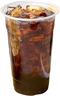 [20 oz | 100 Pack] Clear Plastic Cups Disposable Drinking Cup, BPA Free