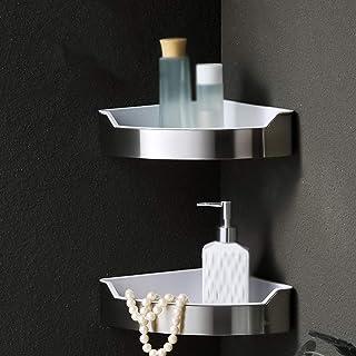 Shower Shelf Shelf, Shelf Rack Triangle Rack Stainless Steel Corner Rack Simple Modern Bathroom Living Room Shower Room Dr...