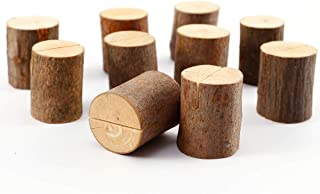 SurePromise 50 delar nytt trä bröllop bordsnummer ställning plats namn anteckning korthållare
