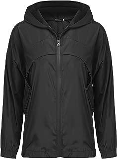 Uniboutique Womens Casual Rain Jackets Hooded Light Raincoat Outdoor Windproof Waterproof Cycling Jacket